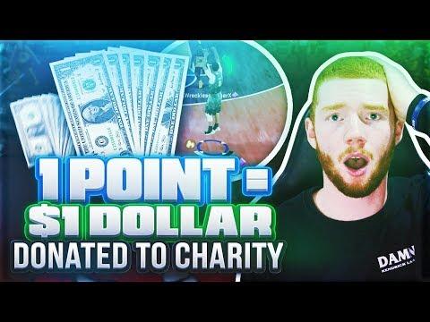 EVERY POINT = $1 DONATED!! CHARITY FUNDRAISER! (NBA 2K18 MYTEAM)