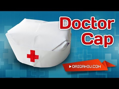 Cap Doctor origami - hat for doctor