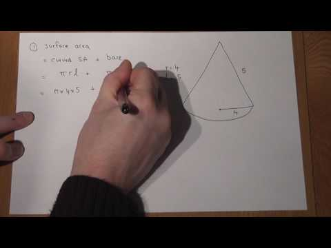 Cones Volume and Surface Area