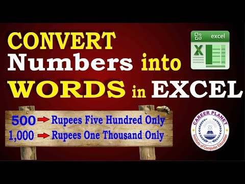 Convert Numbers into Words in Excel|How to Convert Number to Word in Excel in Indian Rupees