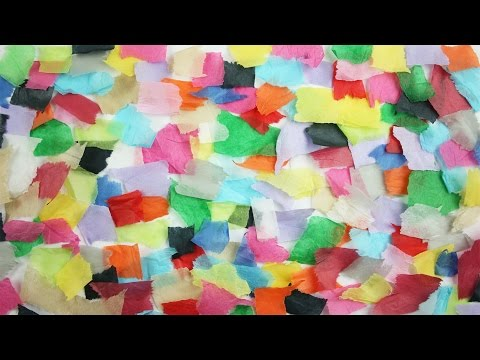 Tissue paper collage - simple craft ideas for kids