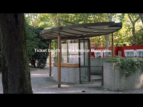 Ticket booth for the Venice Biennale I Carlo Scarpa