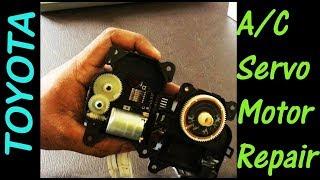 Car Air Conditioner Servo Motor Disassembly & Repair