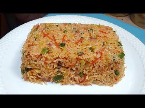 Schezwan Fried Rice Recipe - शेजवान फ्राइड राइस - Leftover Rice Recipe - Sangita Agarwal