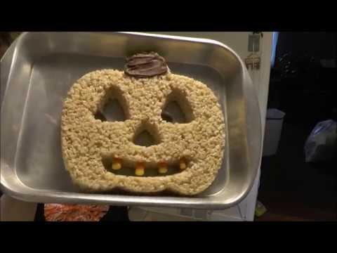 Halloween Pumpkin Marshmallow  Rice Crispy Treats
