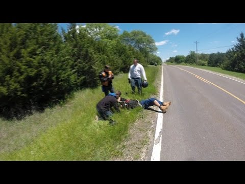 Mechanical failure nearly kills rider