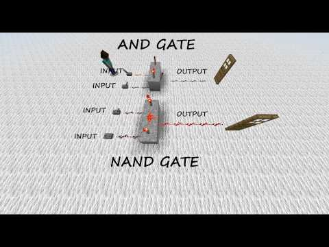 Geoff's Minecraft AND & NAND Gate Tutorial