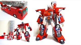 【炎の総司令官】スーパーファイヤーコンボイ トランスフォーマー カーロボットレビュー TransformersRobots In Disguise Optimus Prime review