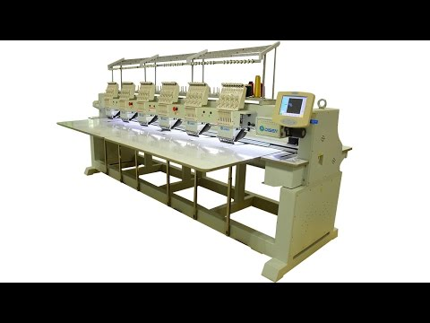 Computer embroidery machine leather cap and t-shirt industrial 6 head embroidery machine