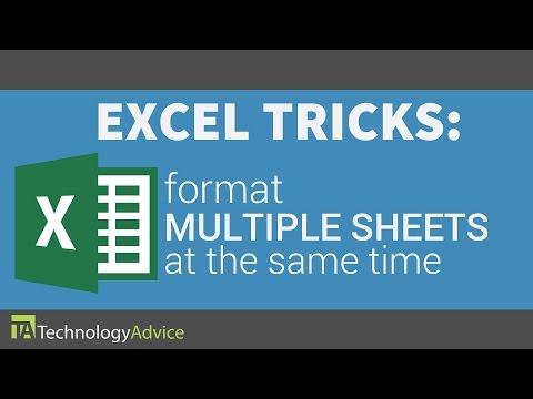 Excel Tricks - Format Multiple Sheets at the Same Time