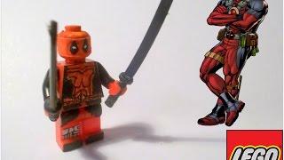 Lego DeadPool Custom Minifigure [PlayHunterChan].