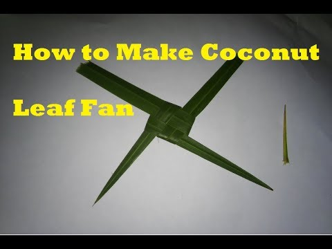 How to Make Coconut Leaf Fan - very easy