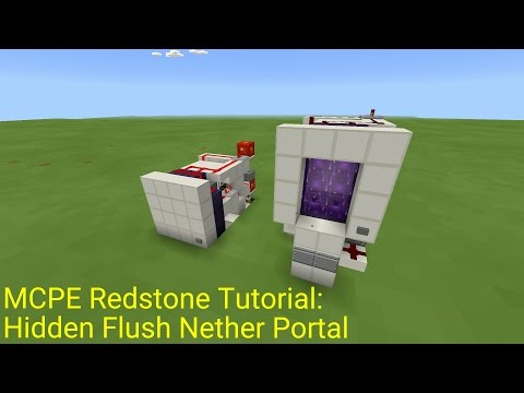 Minecraft Pocket Edition Redstone Tutorial: Flush Hidden Nether Portal (Broken in 0.15.3+)