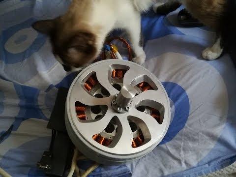 Homemade 35kw Brsuhless motor/generator