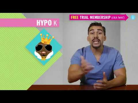 Hypokalemia - Fluid & Electrolytes Nursing Students - patho, (part 1 of 5)