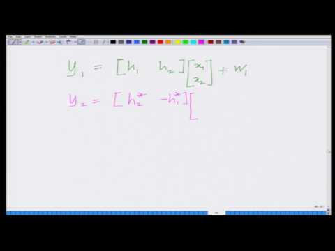 Lecture 39: Alamouti Code and Space-Time Block Codes