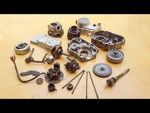Assembling CD-70/SR-70 Motorcycle Engine.