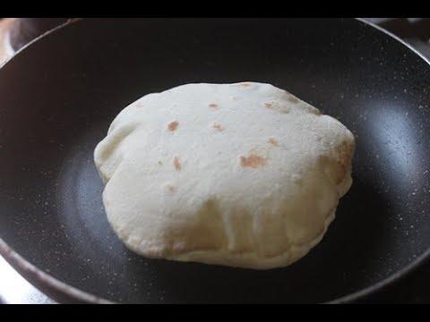 KUBOOS RECIPE – ARABIC PITA BREAD RECIPE – STOVE TOP PITA BREAD