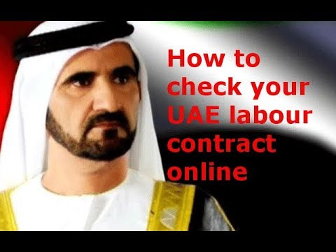 How to check your UAE labour contract online on mol | Labour Card Information  | technical fahim
