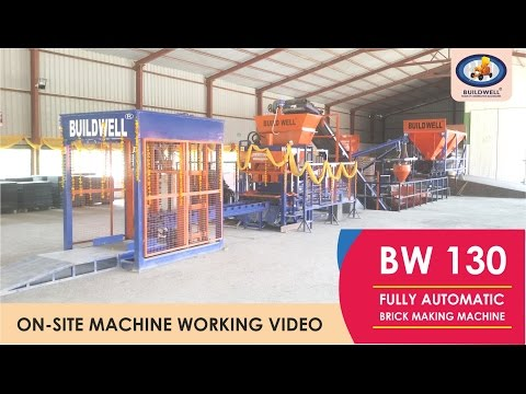 BW130 | FULLY AUTOMATIC FLYASH BRICKS MAKING MACHINE
