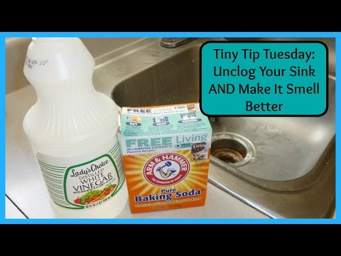 Tiny Tip Tuesday:  Unclog Your Sink AND Make It Smell Better