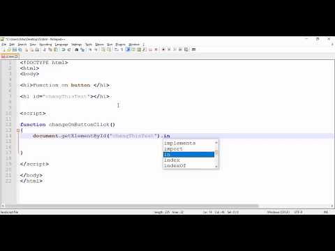 JavaScript - Simple Function Example With Button Onclick