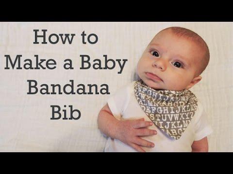 How to Make a Baby Bandana Bib - DIY