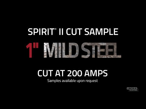 "Spirit® II Plasma Cut Sample, 1"" Mild Steel Cut at 200 AMPS"