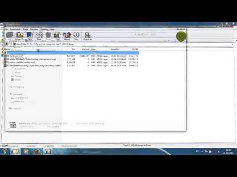 7Zip File Manager Tutorials How to Extract, Test, Split, Combine, Benchmark,Copy using 7Zip