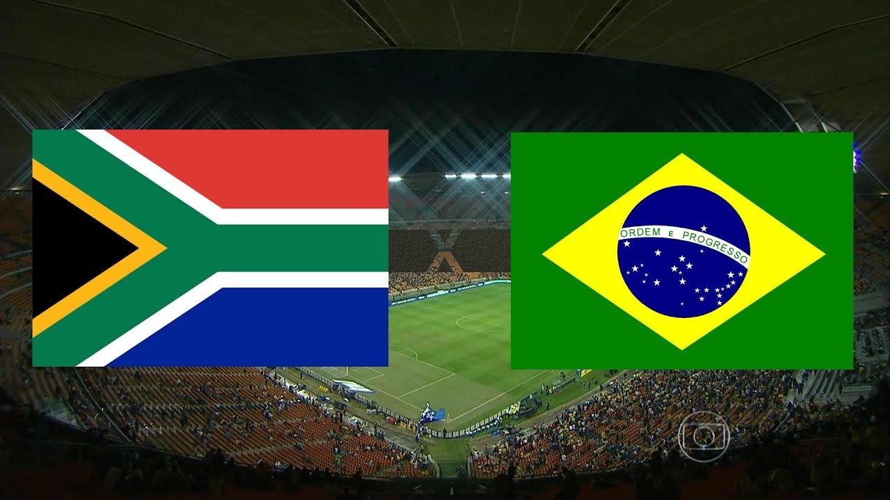 Jogo Completo - África do Sul 0 x 5 Brasil - Amistoso Internacional - 05/03/2014