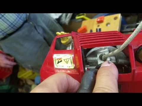 Repairing Craftsman Weedwacker pull-starter.