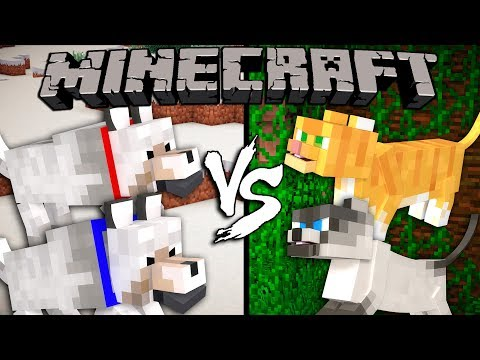 Dogs vs. Cats - Minecraft