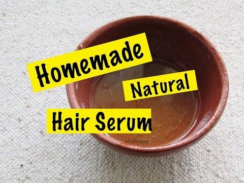 Homemade Natural Hair Serum - Aloe Vera Gel To Get Soft, Smooth & Shiny Hair,