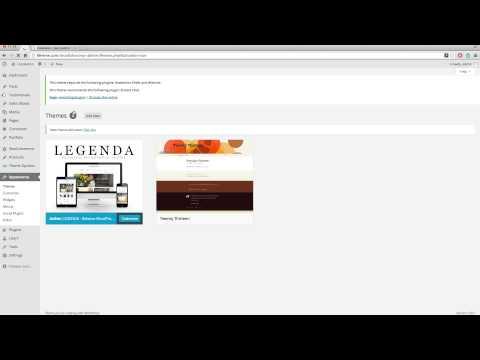 Legenda Wordpress Theme - Installation