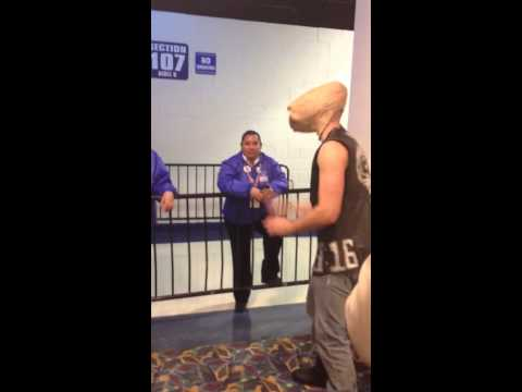stone cold e.t. vs. security guards at WWE Payback