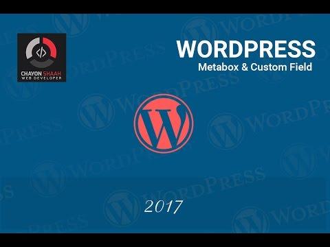 Wordpress  Meta Box and Custom Field Data Saving in Database -  By Chayon Shaah (Bengali Tutorial)