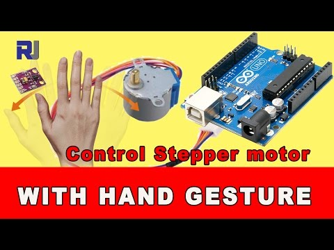 control Stepper motor with hand gesture using Arduino