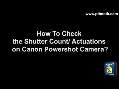 How To Check the Shutter Count on Canon Powershot Camera