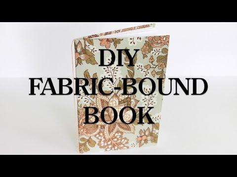 DIY Fabric-Bound Book