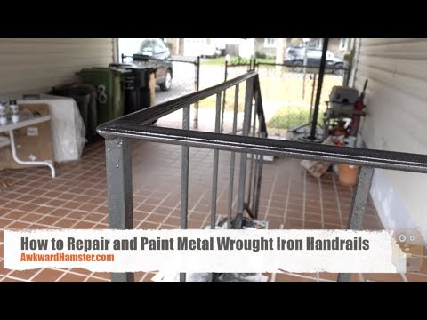How to Repair and Paint Metal Wrought Iron Handrails