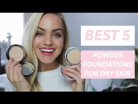 QUICK 5: Five Best Powder Foundations for DRY Skin | Mariah Leonard