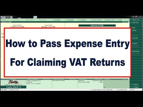 How to Pass the Expense Entry for Claiming VAT Returns - UAE