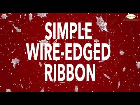Holiday Serger Wire-Edged Ribbon Tutorial