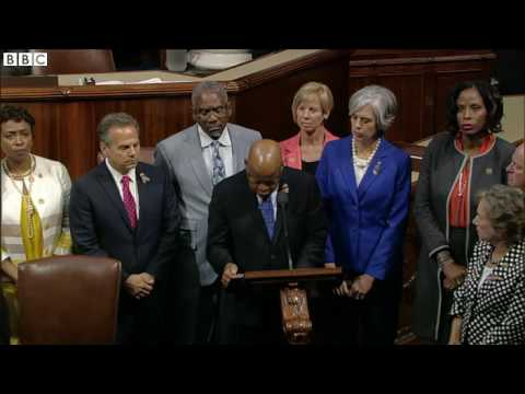 House Democrats stage sit in on US gun control   BBC News