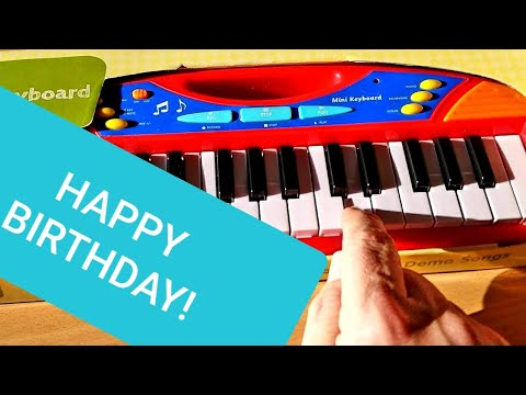 Happy Birthday. Learn How Using A Child's Mini Keyboard!