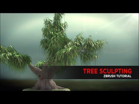 Tree Sculpting Tutorial using ZBrush