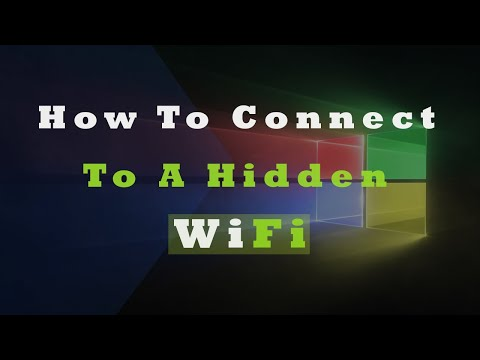 How to connect to a hidden Wifi in Windows 10