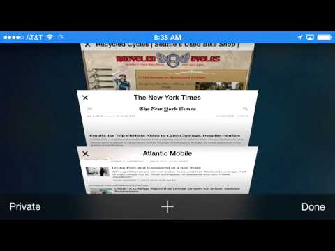 Close All Mobile Safari Tabs at Once by Going into Private Mode