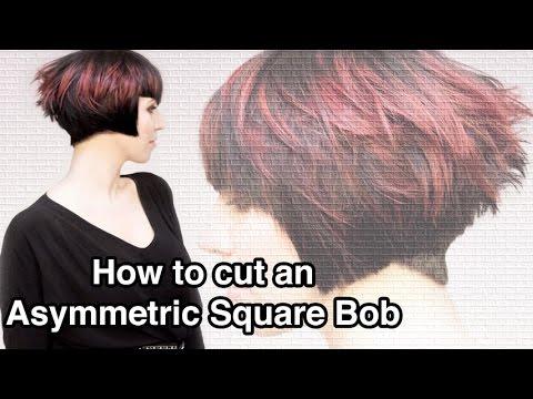 Watch how to cut an asymmetric square bob