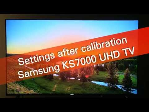 Samsung 49KS7002 KS7000 UHD HDR TV settings after calibration